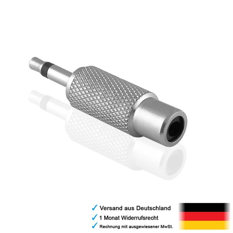 audio adapter 3 5mm mono klinke stecker cinch chinch. Black Bedroom Furniture Sets. Home Design Ideas