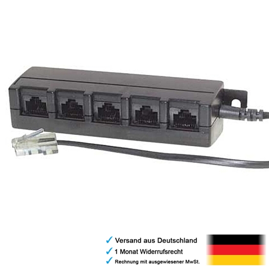 dsl lan netzwerk telefon kabel verteiler 1 rj45 stecker in 5 rj 45 kupplung out ebay. Black Bedroom Furniture Sets. Home Design Ideas